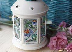 Витражный фонарик
