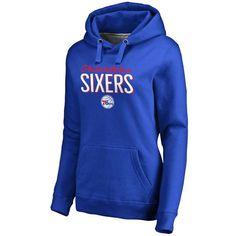 Philadelphia 76ers Women's Nostalgia Pullover Hoodie - Royal - $59.99