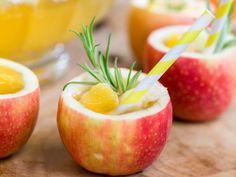 Appelpunch - Libelle Lekker Geserveerd in bekertjes gemaakt van appel!