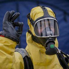 Hazmat Suit, Chemical Weapon, Space Suits, Nuclear Power, Scientists, Underwater, Diving, Latex, Masks