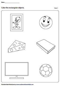 Identify and color the rectangular objects