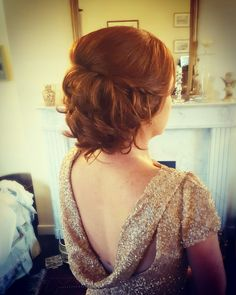 A gorgeous soft upstyle by Katie for a December wedding Stylists, Backless, December, Hair Styles, Wedding, Dresses, Fashion, Hair Plait Styles, Valentines Day Weddings