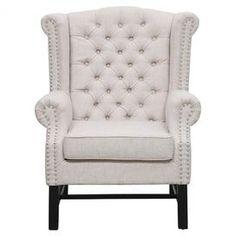 Manchester Arm Chair in Beige $325
