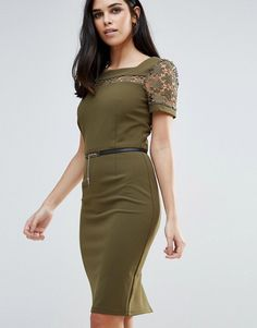 eb0107c3733 Paper Dolls Pencil Dress With Belt