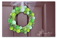 paper cardstock green wreath to get color ideas from