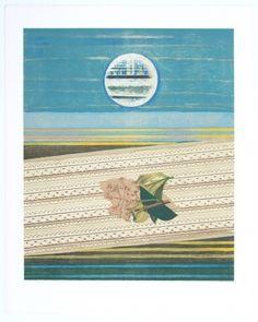 Lithographie - Max Ernst - Mer et Soleil