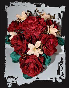 Ramo de novia original, para siempre, flor bordada alta costura.