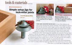 Article - Fine Woodworking Magazine: Lock Miter Master Jigs