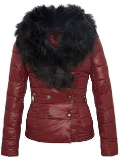 This burgundy winter coat! I would buy if it's available in black.