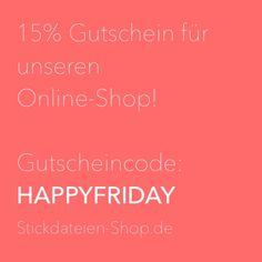 Endlich Wochenende! Hol Dir 15% in unserem Shop mit dem Gutscheincode: