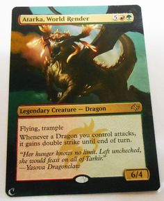 MTG Altered Painted Atarka World Render Fate Reforged #WizardsoftheCoast