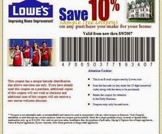 Lowes coupons printable lowes 10 off coupons home pinterest printable coupons lowes home improvement coupons fandeluxe Gallery