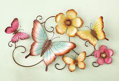 3D Butterfliy Garden Floral Wall Art