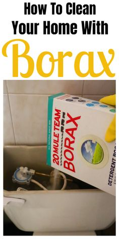Tips and tricks for cleaning your home with Borax. #cleaninghacks #householdhacks #cleaningtips #householdtips Borax Cleaning, Household Cleaning Tips, House Cleaning Tips, Cleaning Hacks, Household Cleaners, Cleaning Recipes, Cleaning Supplies, Tips And Tricks, Diy Cleaners