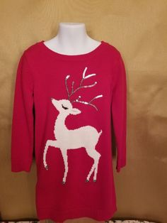 02c5f6f2855 Girls Gymboree Reindeer Sweater Dress Size 6  fashion  clothing  shoes   accessories
