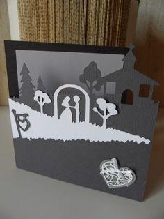 Pour des félicitations mariage : carte avec mise en scène : Cartes par made-by-newscrapeuse