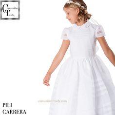 Trajes de Primera Comunión 2016 PILI CARRERA moda infantil | COMUNIÓN TRENDY :: Mil ideas para organizar una Primera Comunión :: Vestidos de comunión, Recordatorios, Trajes de Comunión