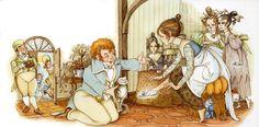 """""""Cinderella"""" illustrated by Hilary Knight  (full post: http://cizgilimasallar.blogspot.com/2012/02/hilary-knight-cinderella.html#)"""