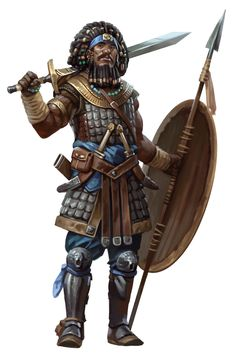 Warrior · Dungeons And Dragons by Eric Belisle Fantasy Male, Fantasy Armor, Medieval Fantasy, Fantasy Fighter, Black Characters, Dnd Characters, Fantasy Characters, Dungeons And Dragons Characters, Character Concept