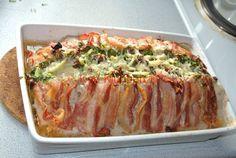 Farsbrød med bacon, pesto og parmasan