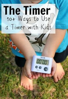 14 ways to use a timer with your toddlers, preschoolers, and younger children. A great asset to your routine or schedule.