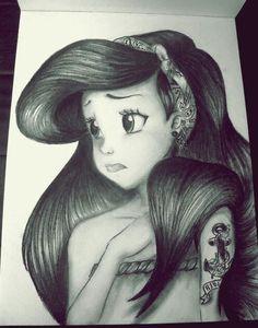 Mermaid tattooed