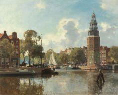 Cornelis Vreedenburgh (Woerden 1880-1946 Laren (N.H.)) The Montelbaans tower, Amsterdam - Dutch Art Gallery Simonis and Buunk Ede, Netherlands.