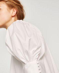 เสื้อผู้หญิงผ้าปอปลิ้นแขนพอง-สินค้าใหม่สัปดาห์นี้-สตรี   ZARA ไทย