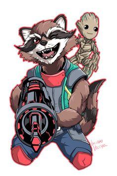 All New Rocket and Groot by LucianoVecchio.deviantart.com on @DeviantArt