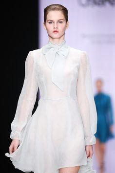 Beresta autumn - winter 2017 , silk dress, light blue, шёлковое платье