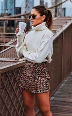 Winter Outfits to Shop Now Vol. 1 / 36 Over 55 winter outfits for shopping 1 of 36 is Cozy Fall Outfits, Trendy Outfits, Cute Outfits, Fashion Outfits, Spring Outfits, Autumn 2018 Outfits, Work Outfits, Tweed Skirt, Winter Mode