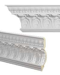 """<strong>9.5"""" Crown Molding</strong><br>7.6'' H x 5.5'' W x 96'' Long<br>Commonly used with 12'+ Ceilings<br><i>Usually ships in 24-48 hours</i>"""