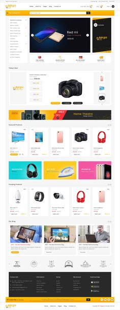 Metacart is a clean and modern design #PSD template for amazing #eCommerce website with 25 layered PSD files download now > https://themeforest.net/item/megacart-multi-purpose-ecommerce-psd-template/19890342?ref=Datasata