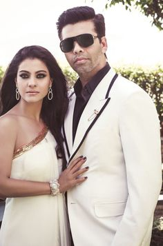 Bollywood, Tollywood & Más: Kajol and Karan Johar Noblesse India Kajol Saree, Indian Star, Karan Johar, Celebrity Jewelry, Manish Malhotra, Noblesse, Celebs, Celebrities, Best Actress