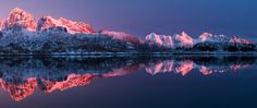 Lofoten, NORWAY. This is what it looks like in winter when the sun is returning to the Northern parts of Norway. By Felix Inden