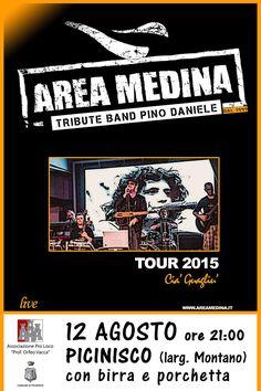 12 agosto a Picinisco ...tribute band di Pino Daniele...porchetta e birra a volontà...non mancate...