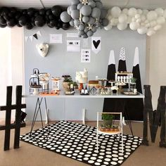 Image may contain: indoor Birthday Goals, Baby Birthday, First Birthday Parties, Diy Party Decorations, Birthday Decorations, Panda Party, Baby Party, Holidays And Events, Baby Boy Shower
