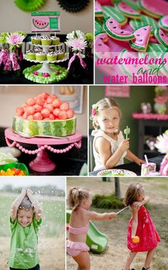 Watermelon Water Balloon Birthday | Featured on TheCelebrationShoppe.com