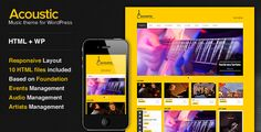 Acoustic - Premium Music WordPress Theme (Entertainment)