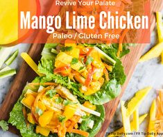 Revive your palate with the sweet and spicy chicken. This recipe for mango lime chicken allows the natural acids of the fruit to marinate the chicken to perfection! ‪#‎paleo‬ ‪#‎fitness‬ ‪#‎health‬