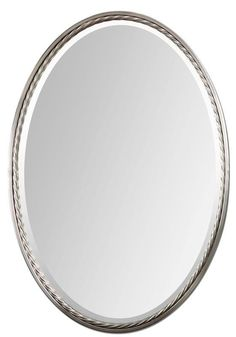 Allen Roth 20 In X 30 In Silver Beveled Oval Framed French Wall Mirror Bathroom Remodel Pinterest Oval Frame And Allen Roth
