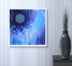 Sacred Geometry wall art #floweroflife #sacredgeometry #wallart #art #originalart #painting #boho #bohostyle #bohoart Original Artwork, Original Paintings, Acrylic Painting Flowers, Flower Of Life, Boho, Abstract Paintings, Sacred Geometry, Tapestry, Hand Painted
