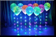 Light Party Decoration Sparkle Ribbons Glow Parties Led cakepins.com
