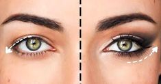 How to Update Your Eye Makeup for Hooded Eyes Droopy Eye Makeup, Droopy Eyes, Blue Eye Makeup, Pretty Eye Makeup For Blue Eyes, Makeup Dupes, Beauty Makeup, Makeup Tricks, Drooping Eyelids, Makeup Eyes