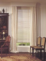 Window Dressing With Venetian Blinds Curtains And Pelmet Valance Box