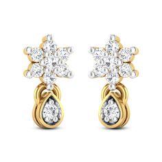 Navara Diamond Studded Gold Earrings