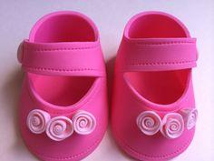 Ducha de bebé del zapato / caliente rosa zapatos / goma pasta