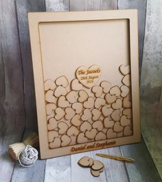 Wedding Drop Box Guest Book Alternative Heart by ForgetMeKnotWed