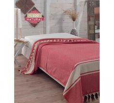 Cuvertura Natural Pique Diamond - Rosu Comforters, Blanket, Bed, Furniture, Home Decor, Diamond, Natural, Creature Comforts, Quilts