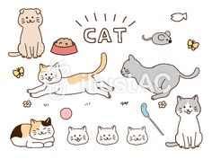 Cat Tags, Aesthetic Pictures, Free Images, Vector Free, Snoopy, Comics, Pets, Illustration, Animals